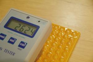 陶板のイオン数値測定